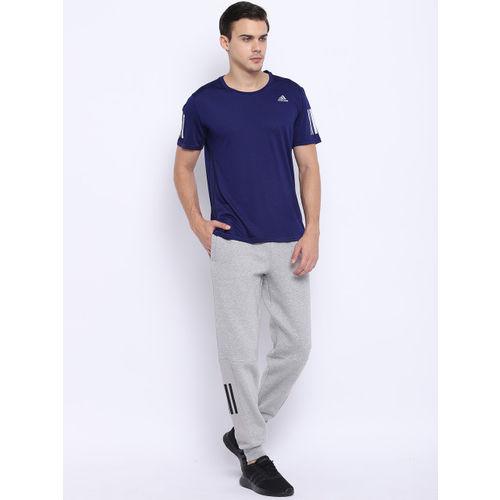 Adidas Men Navy Blue Response Cooler Solid Running T-shirt