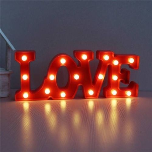 Satyam Kraft 3D LED Desk Table Wall Hanging Indoor Red Romantic Love Christmas Night Light Lamp Night Lamp