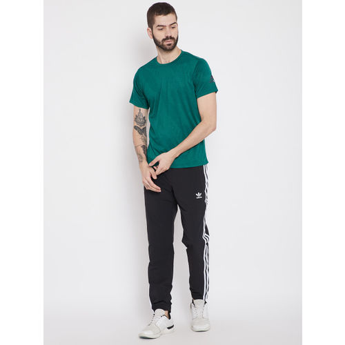Adidas Men Green Freelift AERO Printed Training T-shirt
