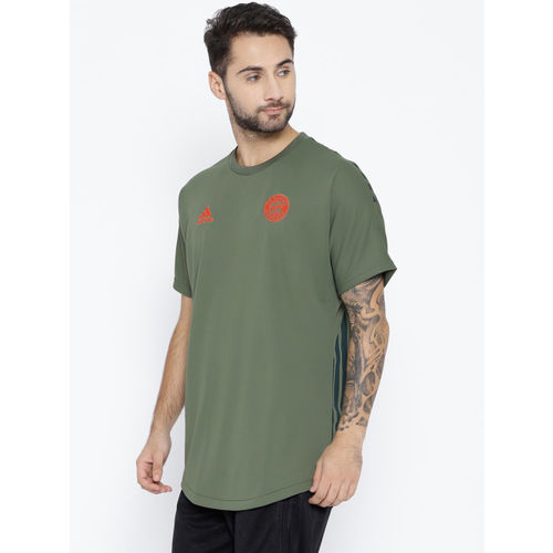 Adidas Men Olive Green Seasonal Special FC Bayern Football T-Shirt