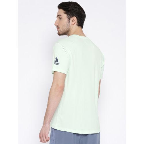 Adidas Men Green Solid FREELIFT CHILL Training T-shirt