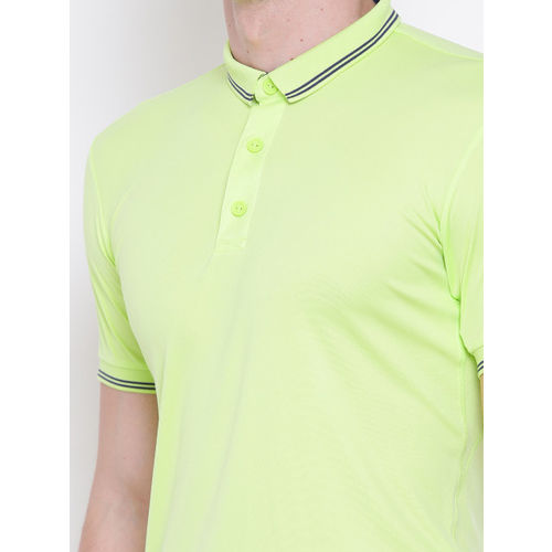 Adidas Men Fluorescent Green PIQUE Polo T-Shirt