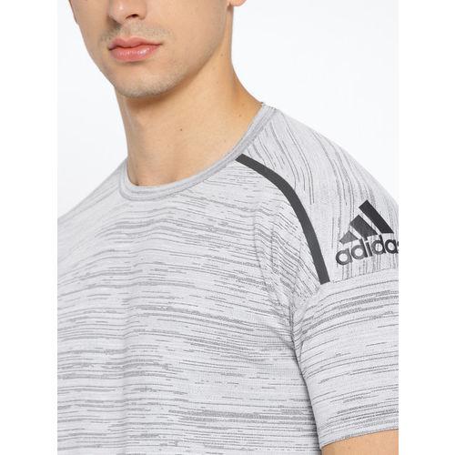 Adidas Grey Melange Solid ZNE FFKN Athletics T-shirt
