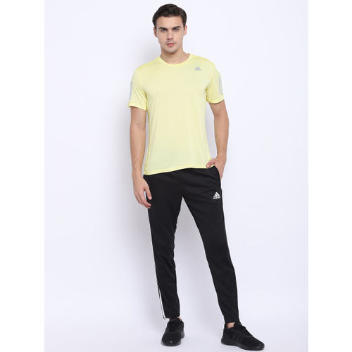 Adidas Men Yellow Response Cooler Solid Running T-shirt