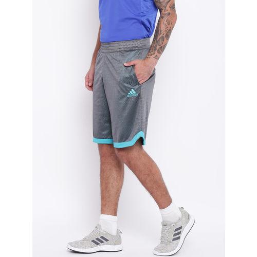 Adidas Men Grey Sport Mesh Basketball Shorts