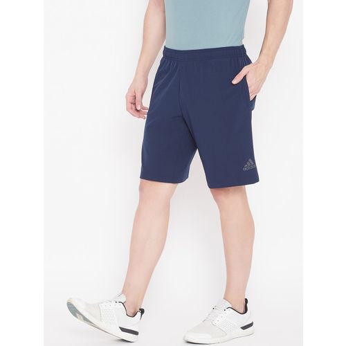 Adidas Men Navy Blue Solid 4KRFT Elevated Training Shorts