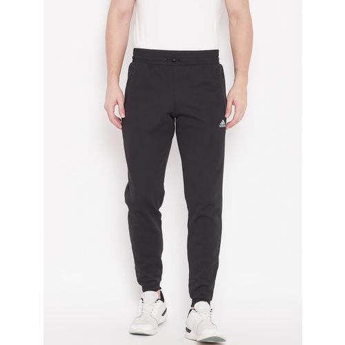 416abbb4b5a2 Buy Adidas Men Black Self Design ID Climaheat Stadium Joggers online ...