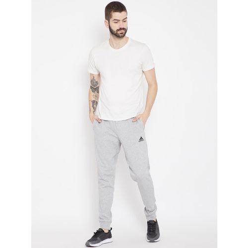 Adidas Men Grey Melange Tango Solid Football Joggers