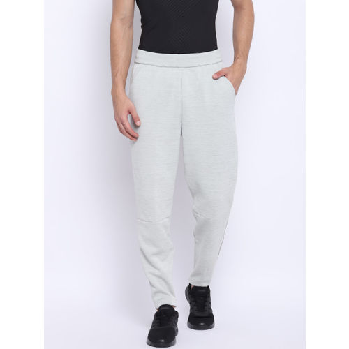 Adidas Men Grey Melange Z.N.E. Tapered Solid Track Pants