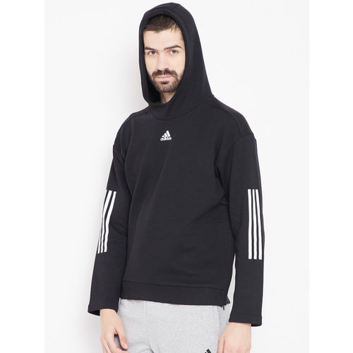 Adidas Men Black ID Champ HD 2 Hooded Sweatshirt