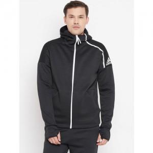 Adidas Men Black Solid Z.N.E Fast Release Hoodie Sweatshirt