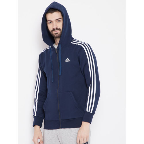 wholesale price new arrive super cute Buy Adidas Men Navy ESS 3S FZ B Sweatshirt online | Looksgud.in