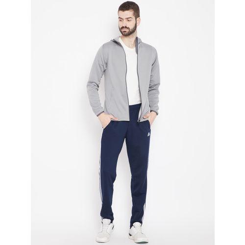 Adidas Men Grey WW FZ Entry Hooded Training Sweatshirt