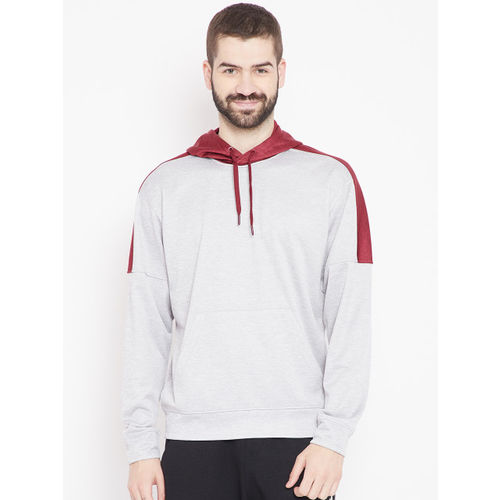 Adidas Men Grey TI FLC PO HDY Hooded Sweatshirt