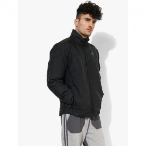 Adidas Bsc Insulated Black Solid Quilted Jacket