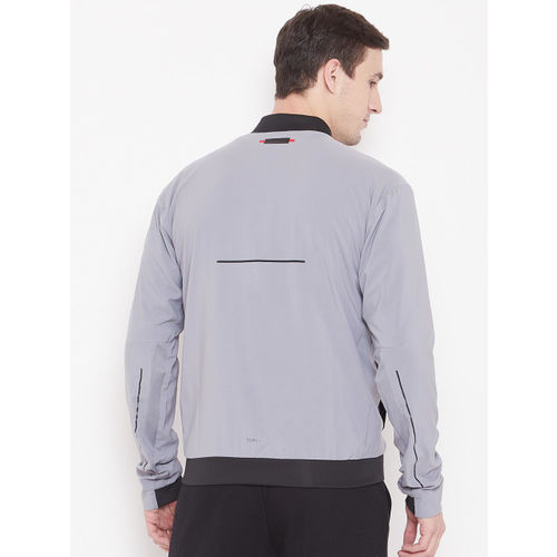 Adidas Men Grey Printed Barricade Sporty Jacket