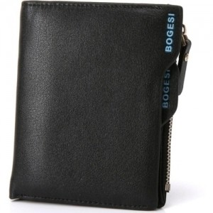 Bogesi Black Leather Solid Men's Wallet