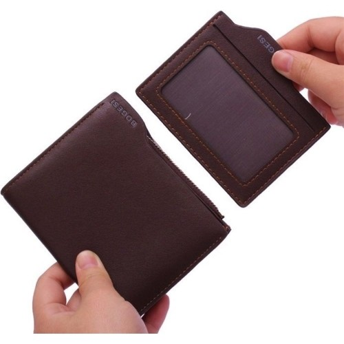 Bogesi Brown Artificial Leather Solid Men's Wallet