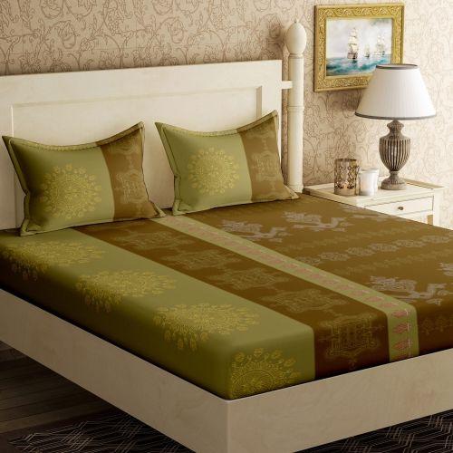 Bella Casa 104 TC Cotton Double Floral Bedsheet