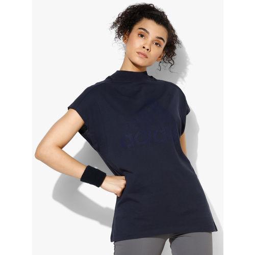 Adidas W Id Mck Nk Navy Blue Round Neck T-Shirt