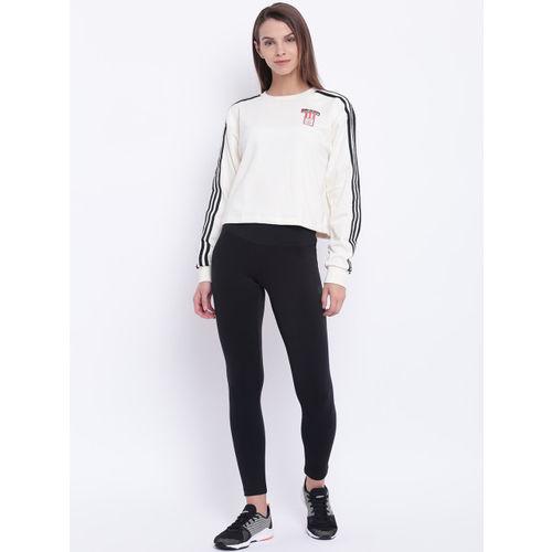 Adidas Women Black Solid D2M HR Long Training Tights