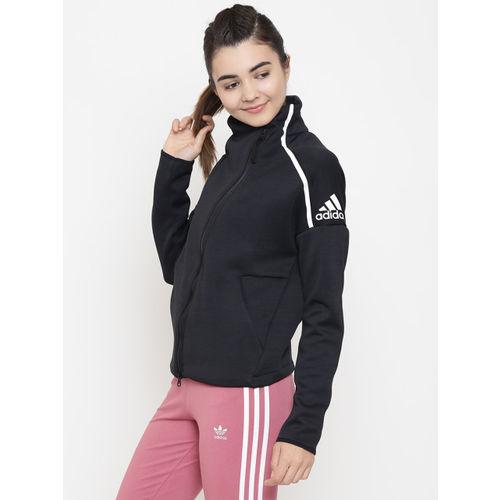 Adidas Women Black Z.N.E. Heartracer Solid Track Jacket