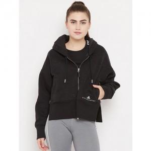 Stella McCartney by Adidas Women Black Essentials Solid Hooded Training Sweatshirt