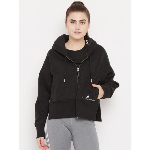 Stella McCartney by Adidas Women Black Essentials Solid Hooded Training Sweatshirt