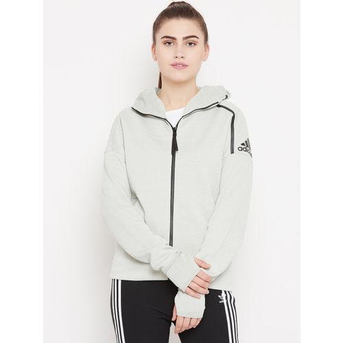 Adidas Women Light Green Z.N.E. Fast Release Hooded Sweatshirt