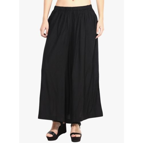 Catch My Style Flared Women's Black Trousers