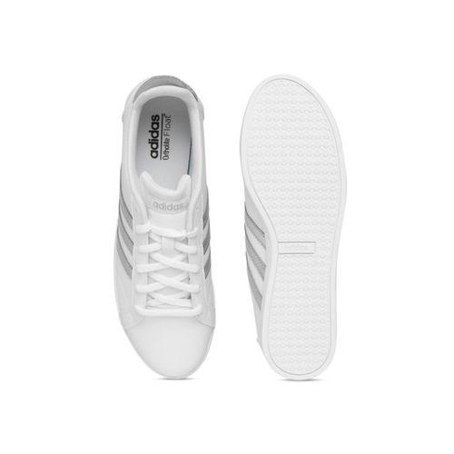Adidas Women White CONEO QT Tennis Shoes
