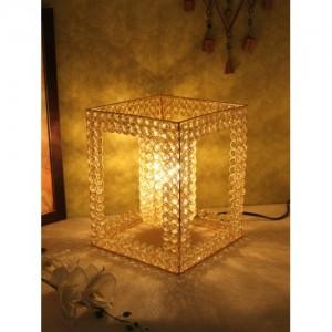 Home Sparkle Handmade Crystal Table Lamp (Gold) Table Lamp