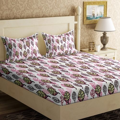 Bella Casa 104 TC Cotton Double Printed Bedsheet