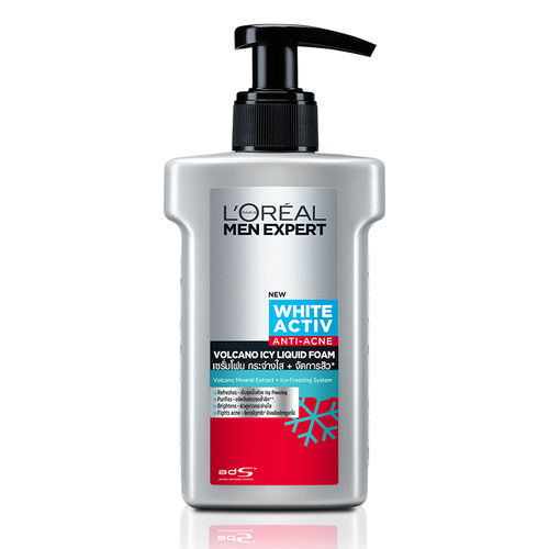 L'Oreal Paris Men Expert New White Activ Anti-Acne Volcano Icy Liquid Foam