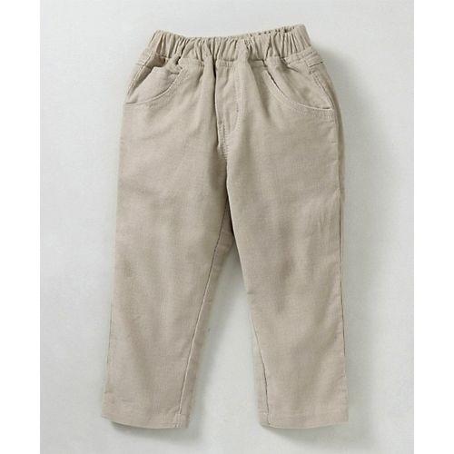 Babyhug  Navy Blue Beige Full Sleeves Tee & Corduroy Pant Pilot Print