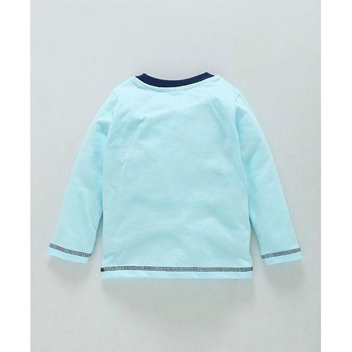 Tango Light Blue Full Sleeves T-Shirt & Track Pant Set King of The Jungle Print