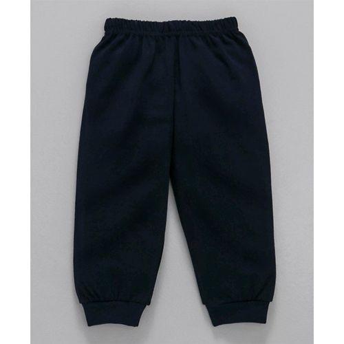 Mini Taurus Navy Blue & White Full Sleeves Tee With Lounge Pant Goal Print