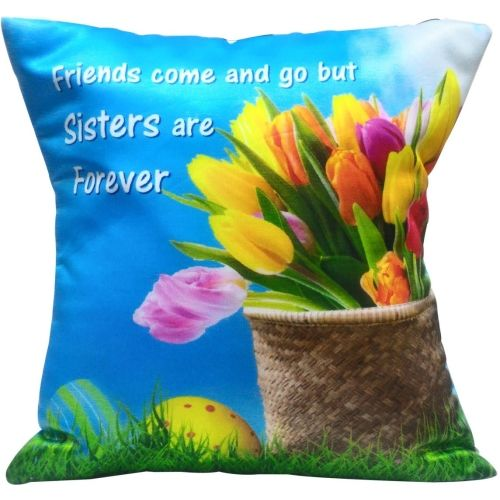 Saugat Traders Text Print Cushions Cover