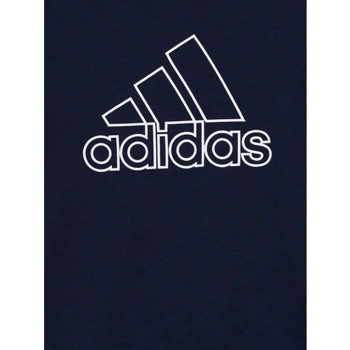 Adidas Boys Navy Blue Printed Round Neck YB Prime Training T-shirt