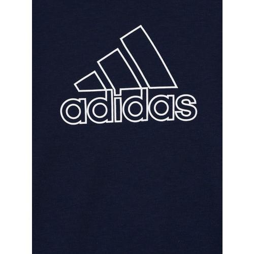 Adidas Boys Navy Blue Printed Round Neck YB Prime Training T-shirt