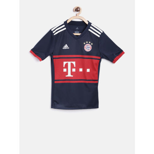 Buy Adidas Boys Navy Blue Red Fc Barcelona A Jersey Printed Clima Cool Round Neck T Shirt Online Looksgud In