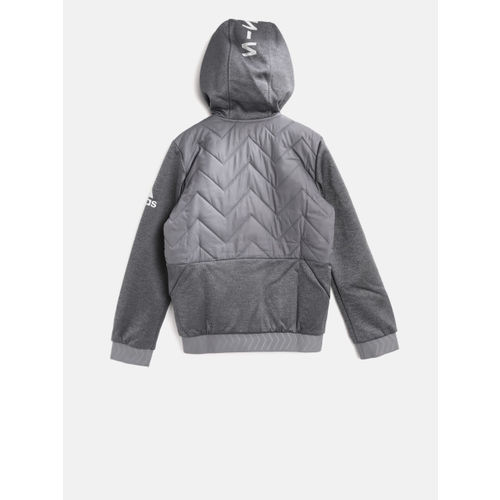 Adidas Boys YB Nemeziz FZ Hooded Quilted Football Sweatshirt