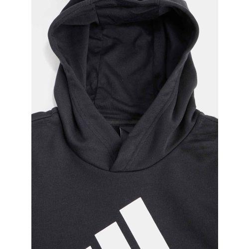 4e7a6728014b ... Adidas Boys Black YB Logo Hooded Training Sweatshirt with Printed  Detail ...
