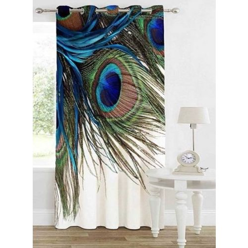 TrueValue Creations 152 cm (5 ft) Velvet Window Curtain Single Curtain