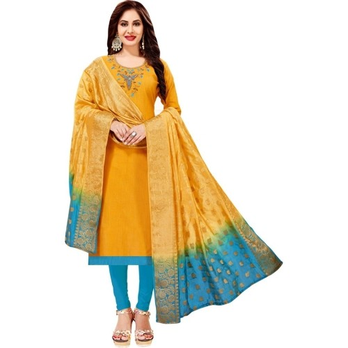 Manvaa Cotton Embroidered Salwar Suit Dupatta Material