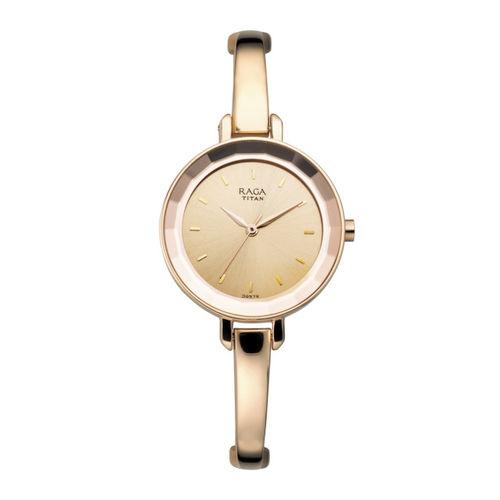 Titan Raga Women Rose Gold-Toned Analogue Watch 2575WM01