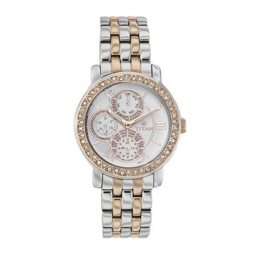 Titan Women White Dial Watch 9743KM01A