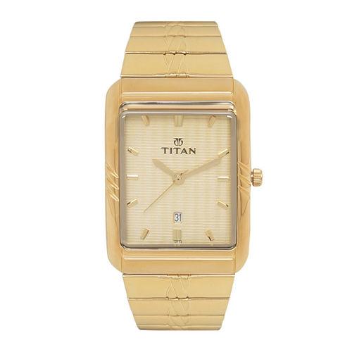 Titan Men Gold-Toned Analogue Watch NK9317YM02