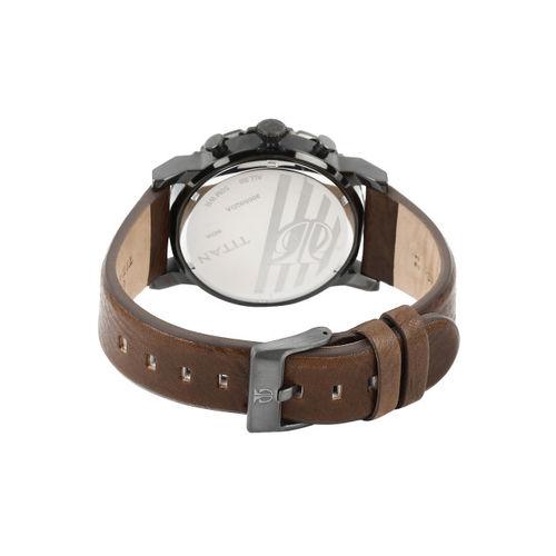 Titan Men Green Dial Watch 90050QL01J
