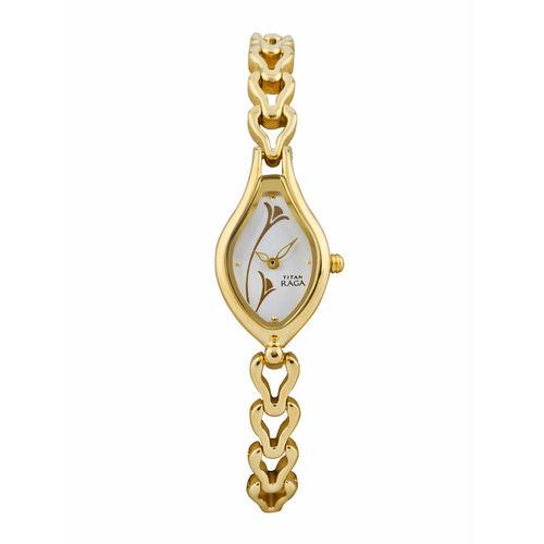 Titan Raga Women Silver Toned Dial Watch NF2457YM01
